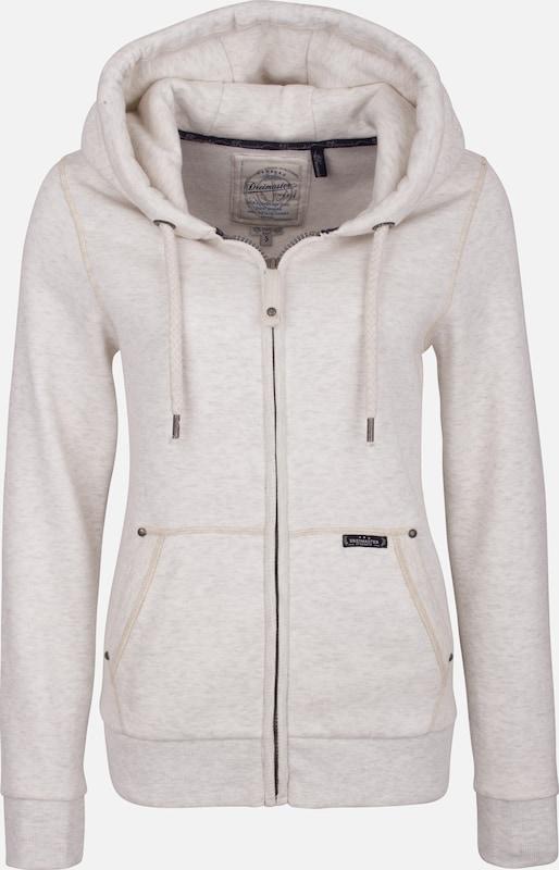 DREIMASTER Sweatjacke in schwarz   weißmeliert  Mode neue Kleidung