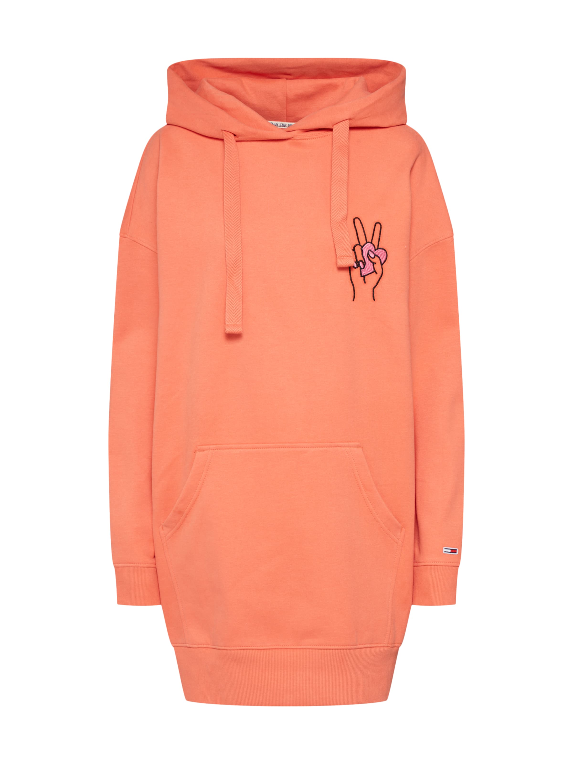 Statement Sweatkleid Hoodie' Tommy In Jeans 'bold Orange PkXOZiuT