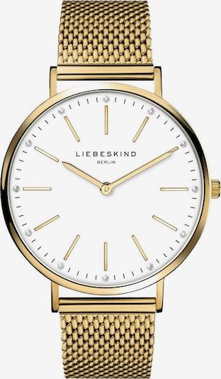 Liebeskind Berlin Analoog horloge in de kleur Goud / Wit, Productweergave
