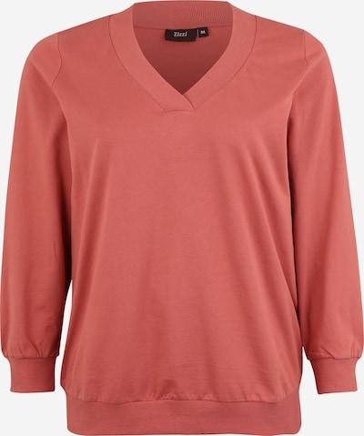 Zizzi Sweat-shirt 'MLUNA, L/S, SWEAT' en rouge orangé, Vue avec produit