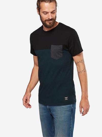 Iriedaily T-Shirt mit Brusttasche in dunkelblau / petrol: Frontalansicht