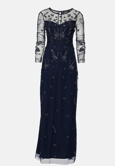 Young Couture by BARBARA SCHWARZER Robe de soirée en bleu marine: Vue de face
