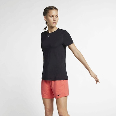 NIKE Shirt in schwarz: Frontalansicht