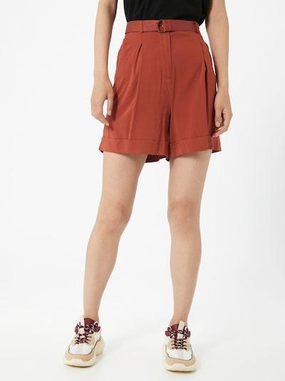 Soft Rebels Pantalon à pince 'Katrina' en rouge pastel, Vue avec modèle