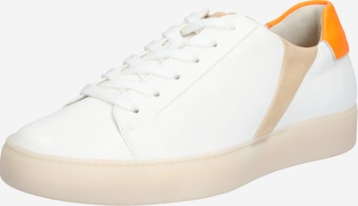 Paul Green Sneakers laag in de kleur Beige / Sinaasappel / Wit, Productweergave