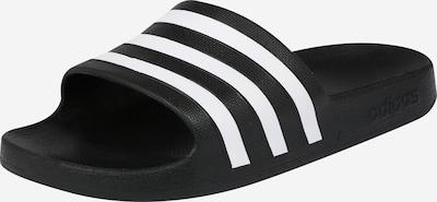 ADIDAS PERFORMANCE Schwimmen Adiletten Hausschuhe in schwarz / weiß: Frontalansicht