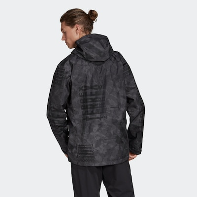 ADIDAS PERFORMANCE Outdoorjacke in graphit / schwarz: Frontalansicht