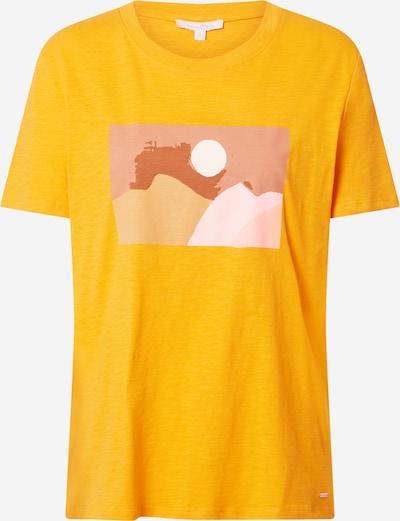 TOM TAILOR DENIM T-shirt en noisette / jaune / greige / rose clair, Vue avec produit