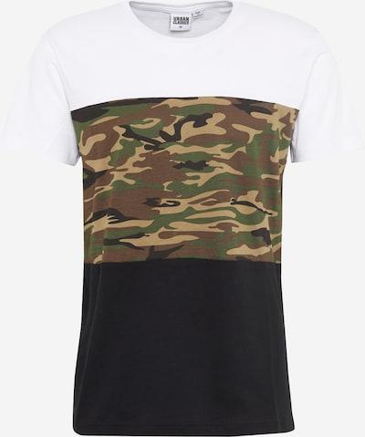 Urban Classics T-Shirt in khaki / schwarz / weiß: Frontalansicht