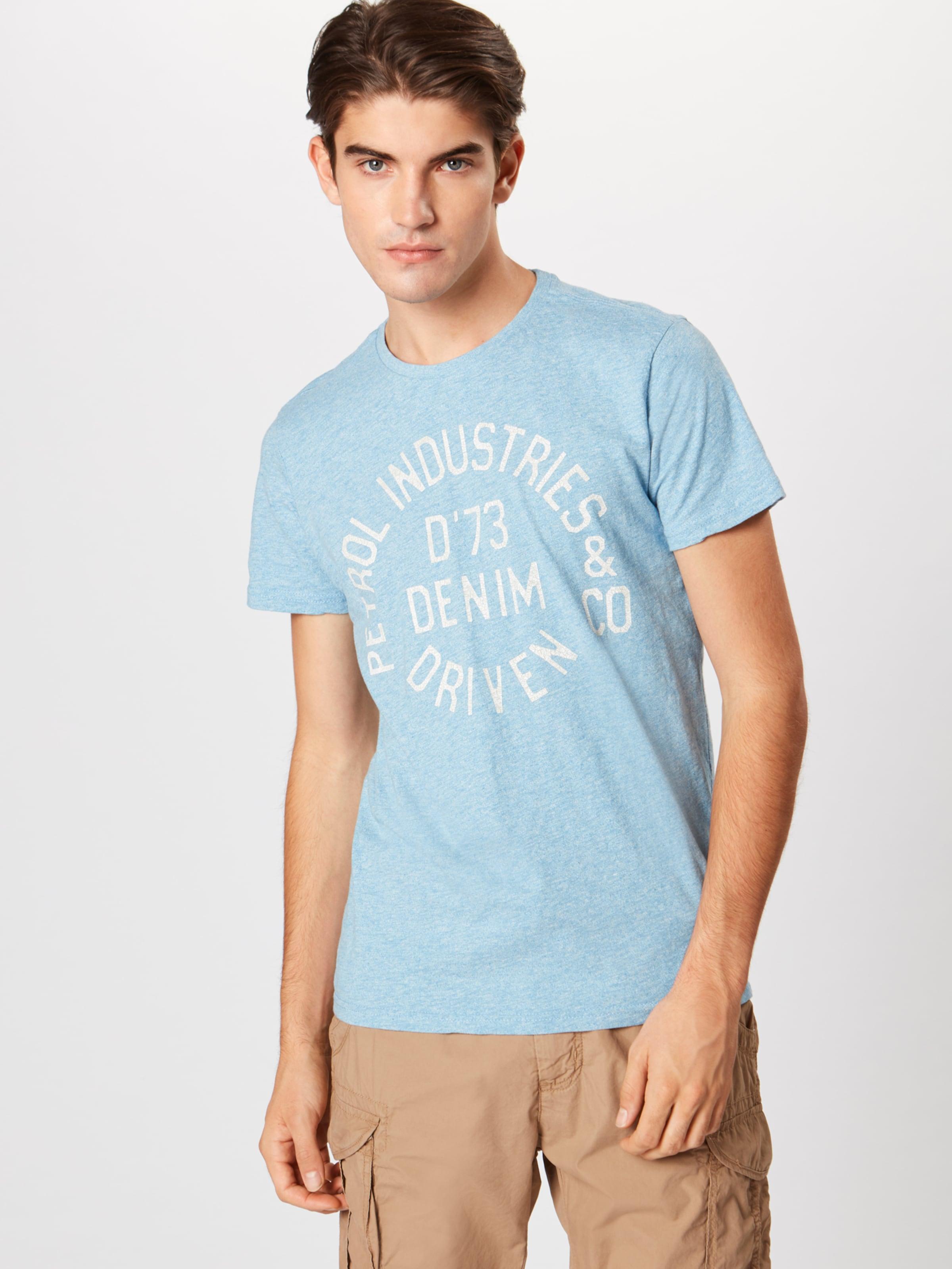 Petrol T shirt Industries ClairBlanc En Bleu xBCWrdoe