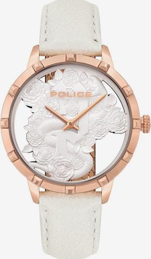 POLICE Uhr in rosegold / weiß, Produktansicht