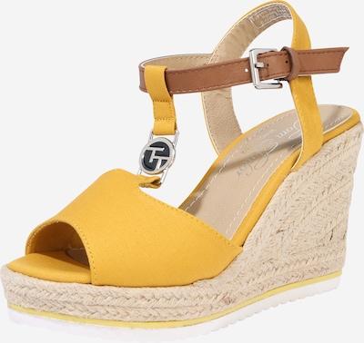 TOM TAILOR Sandalen met riem in de kleur Beige / Mosterd, Productweergave