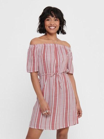 ONLY Kleid in hellrot / weiß, Modelansicht