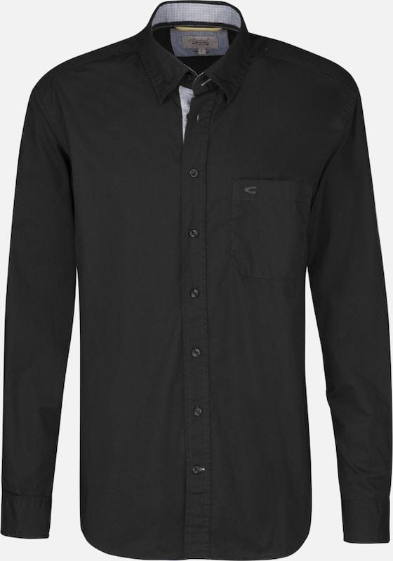 CAMEL ACTIVE ACTIVE ACTIVE Casual-Hemd in schwarz  Freizeit, schlank, schlank 155d16
