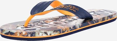 Superdry Teenslippers 'SCUBA' in de kleur Navy / Sinaasappel, Productweergave