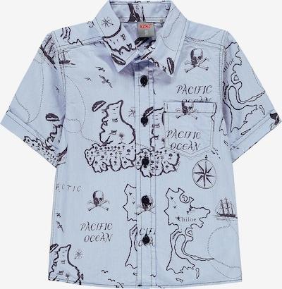 KANZ Kurzarmhemd in rauchblau / nachtblau, Produktansicht