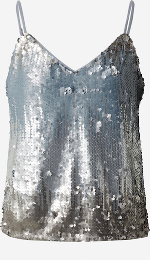 ONLY Top 'ONLJOY S/L SEQUINS TOP JRS' in silber, Produktansicht