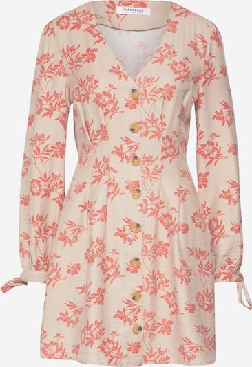 GLAMOROUS Kleid in beige / rot, Produktansicht