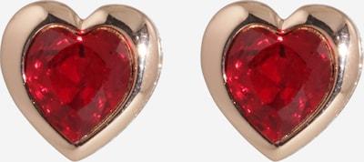Ted Baker Boucles d'oreilles 'HAH' en or rose / rouge foncé, Vue avec produit