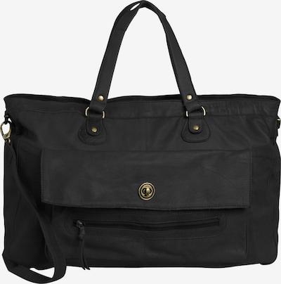 PIECES Tasche Leder-Reisetasche in schwarz, Produktansicht