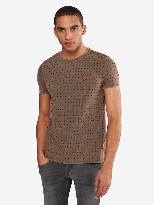 naketano T-Shirt mit Allover-Muster