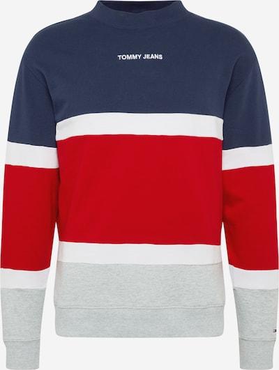 Tommy Jeans Sweater majica u mornarsko plava / siva / crvena, Pregled proizvoda