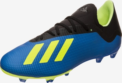 ADIDAS PERFORMANCE Fußballschuhe 'X 18.3 FG' in blau / neongelb / schwarz, Produktansicht