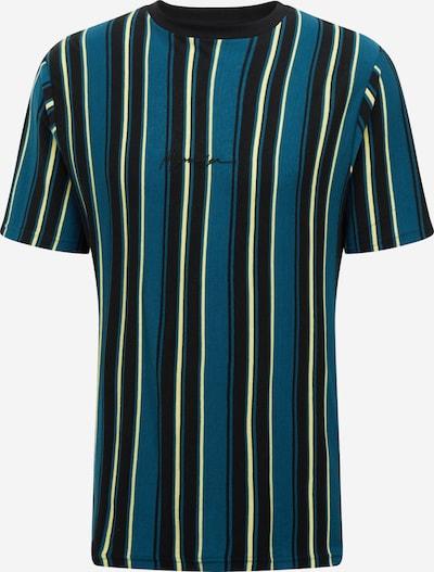 Mennace T-Shirt in himmelblau / schwarz / weiß: Frontalansicht