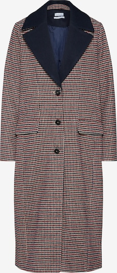 re.draft Mantel 'Houndstooth Coat' in champagner / navy / rot, Produktansicht
