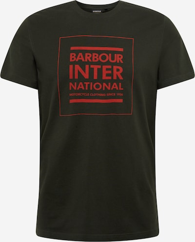 Barbour International T-Shirt en olive, Vue avec produit