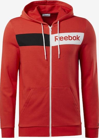 REEBOK Sportsweatjacke in rot, Produktansicht