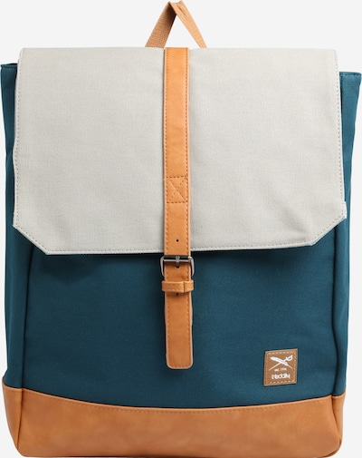 Iriedaily Backpack 'Deep Lake' in Pastel blue / Brown / Light grey, Item view