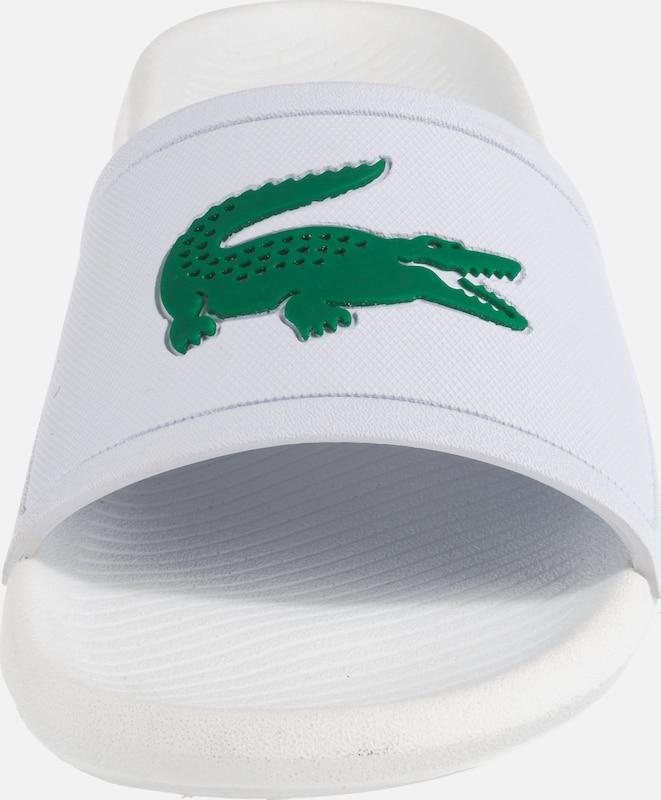 En ClaquettesTongs Vert Blanc Lacoste 'croco' hQdrCts