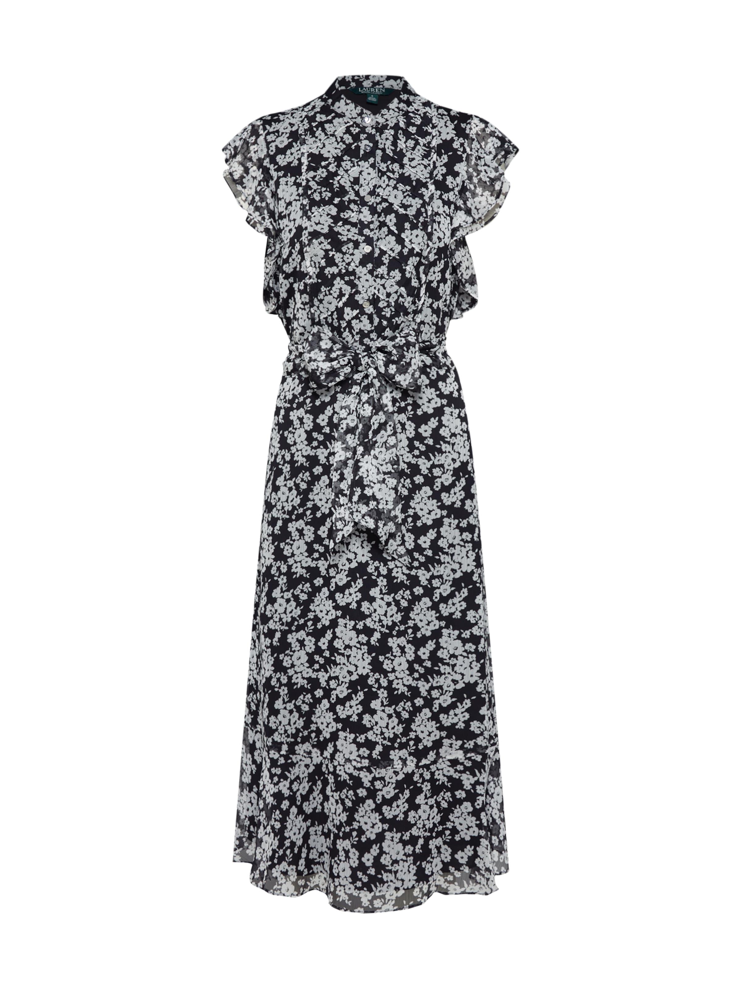 In Schwarz Kleid Lauren Ralph 'janevra' gbfyY6v7