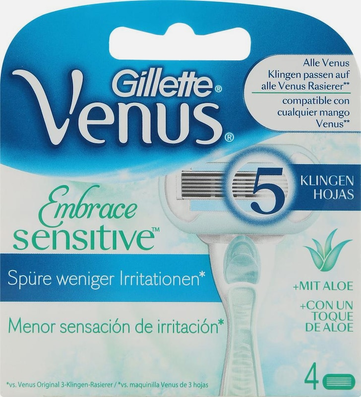 Gillette Venus 'Embrace Sensitive', Rasierklingen, 4-tlg.
