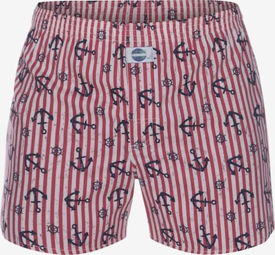 D.E.A.L International Boxershorts 'Anchor' in de kleur Rood / Wit, Productweergave
