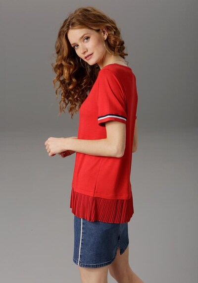ANISTON T-Shirt in rot / schwarz / weiß, Produktansicht