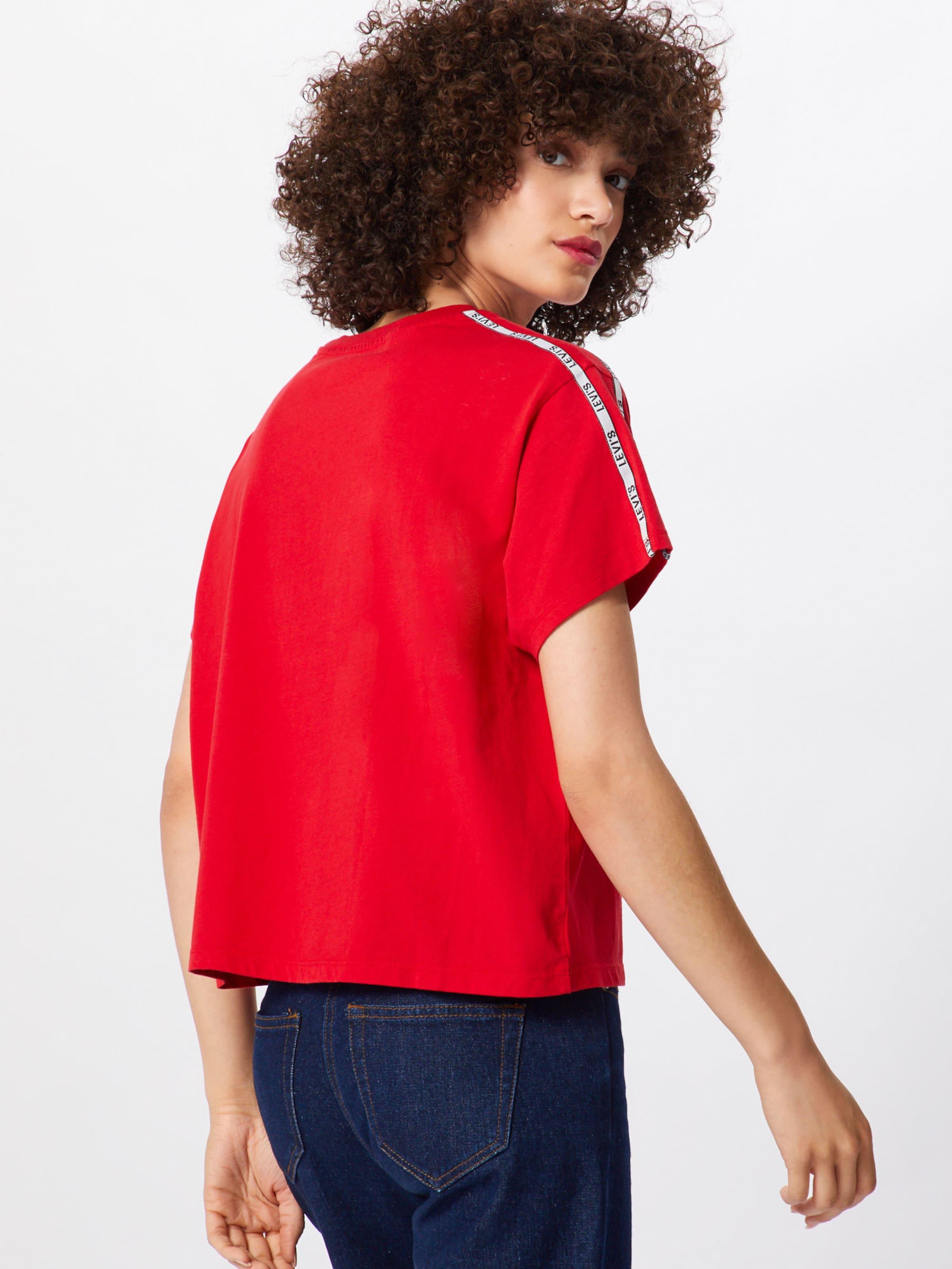 shirt En Rouge Levi's 'varsity' T 80nkwOXPN