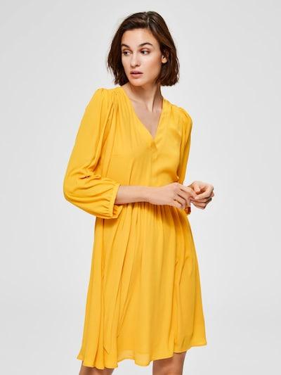SELECTED FEMME Kleid 'SLFZIX 3/4 SHORT DRESS B' in gelb, Modelansicht