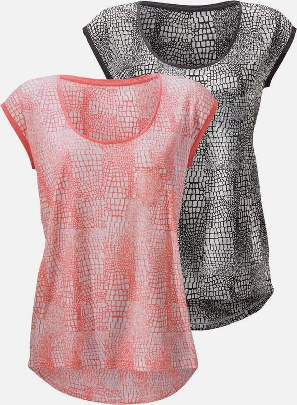 BEACH TIME Shirts in leicht transparenter Ausbrenner-Optik (2 Stück)