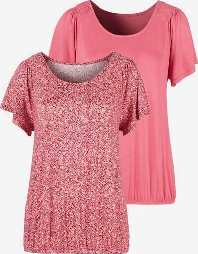 Tricou VIVANCE pe roz pitaya / alb, Vizualizare produs