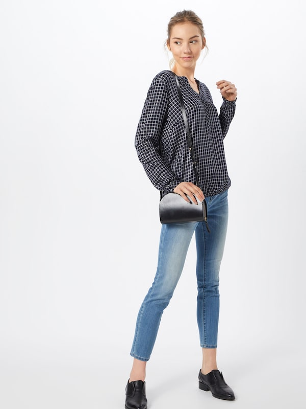 In NachtblauwWit With up' Tailor 'check Turn Blouse Tom 6vYbgy7f