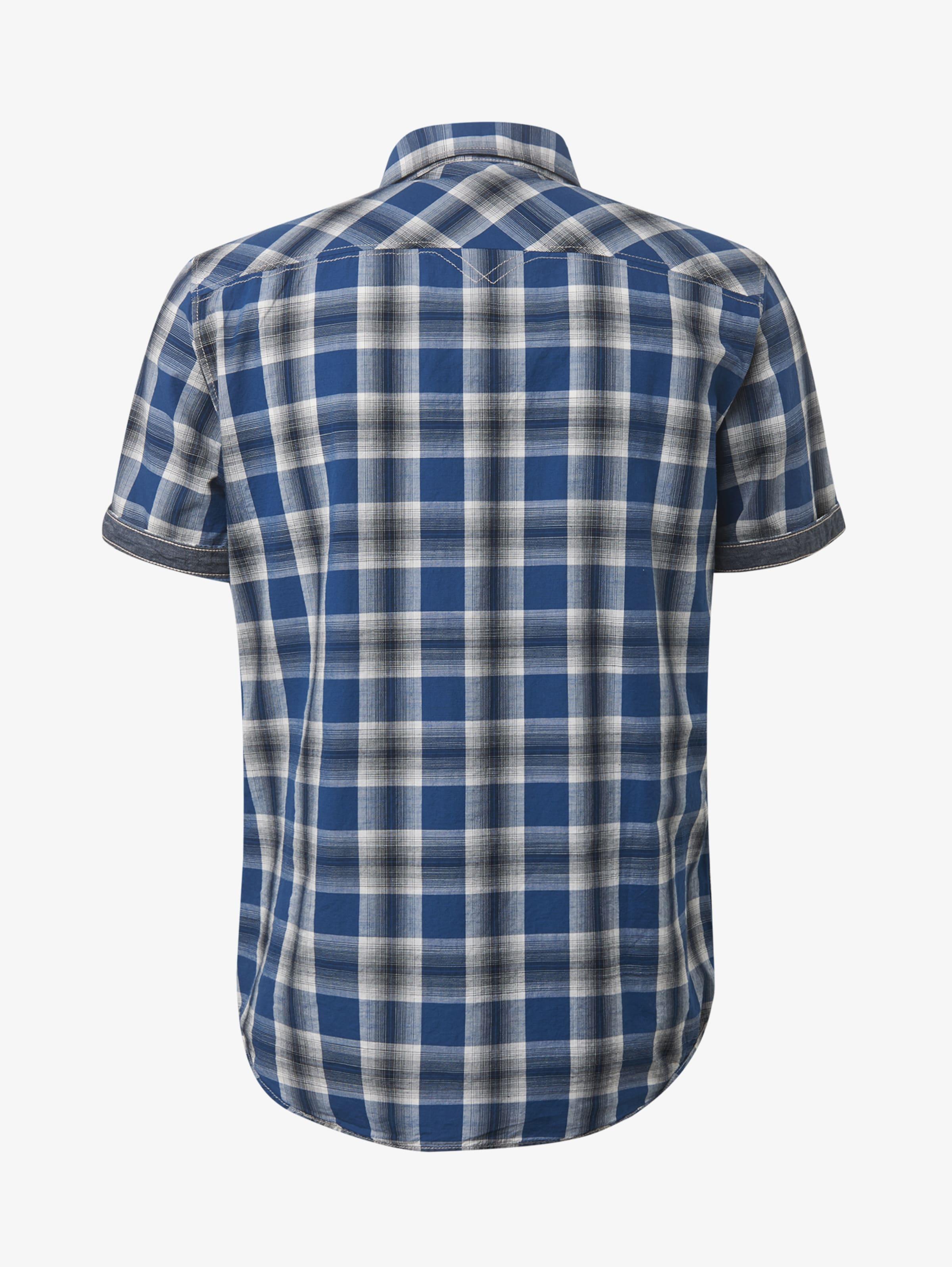 Tom Kurzarmhemd Dunkelblau Tailor In Kariertes 4Aj3RcqL5