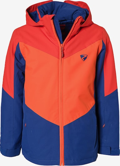 ZIENER Skijacke 'Avan' in blau / koralle / orangerot, Produktansicht