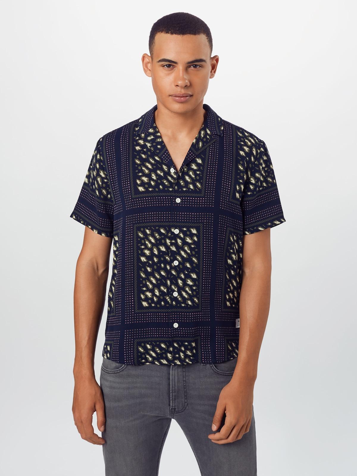 Bestbewertet Männer Bekleidung Revolution Hemd in navy / weiß Verkaufsschlager