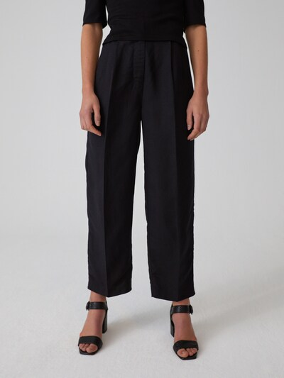 EDITED Trousers with creases 'Hayden' in black, View model