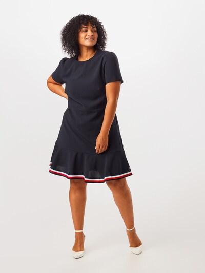 Tommy Hilfiger Curve Sukienka w kolorze ciemny niebieski / czerwony / białym: Widok z przodu