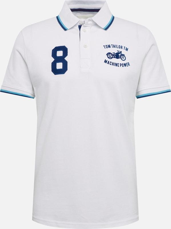 TOM TAILOR BASIC - Poloshirt white