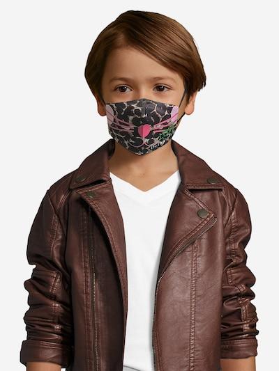 DELICATELOVE Stoffmaske 'Kitty' in braun / schwarz: Frontalansicht