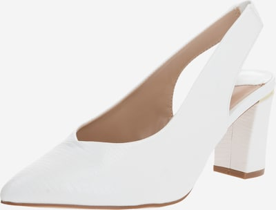 Dorothy Perkins Pumps 'WIDE FIT WHITE EMILY SLING BACK COURT' in de kleur Wit, Productweergave